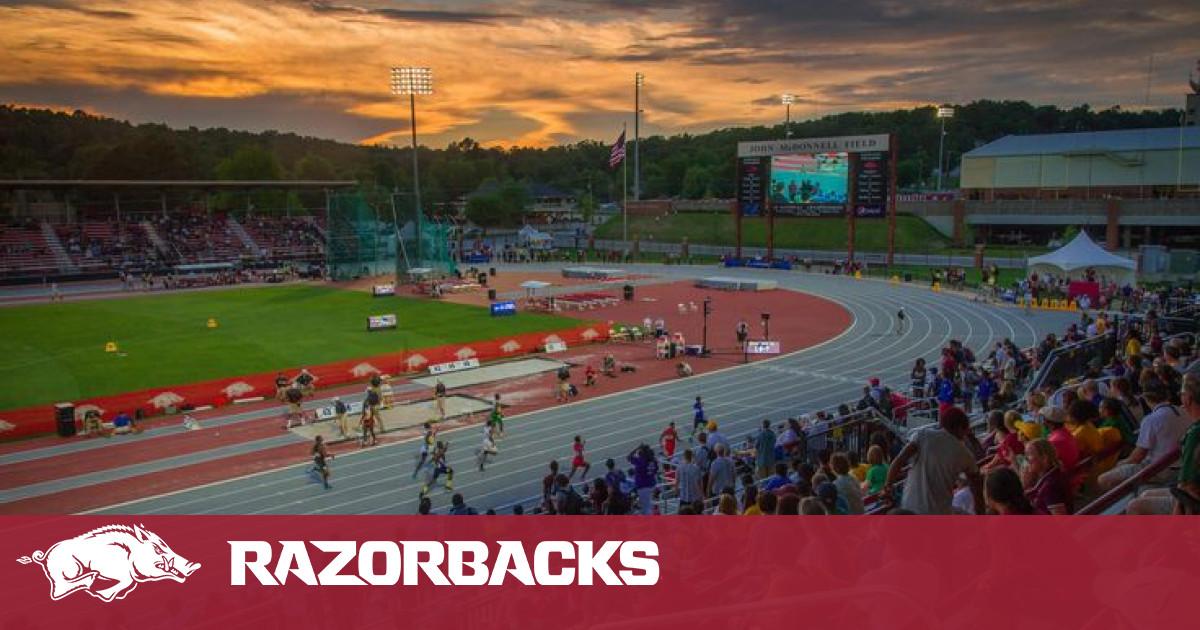 Track Field M Arkansas Razorbacks - Us-track-and-field-map-it