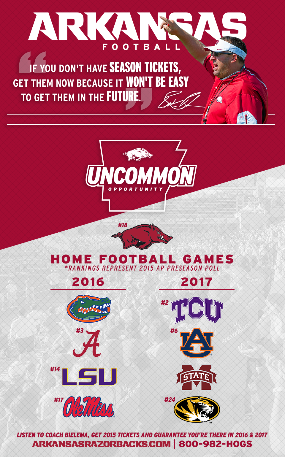 The Best Home Schedule In The History Of Razorback Football