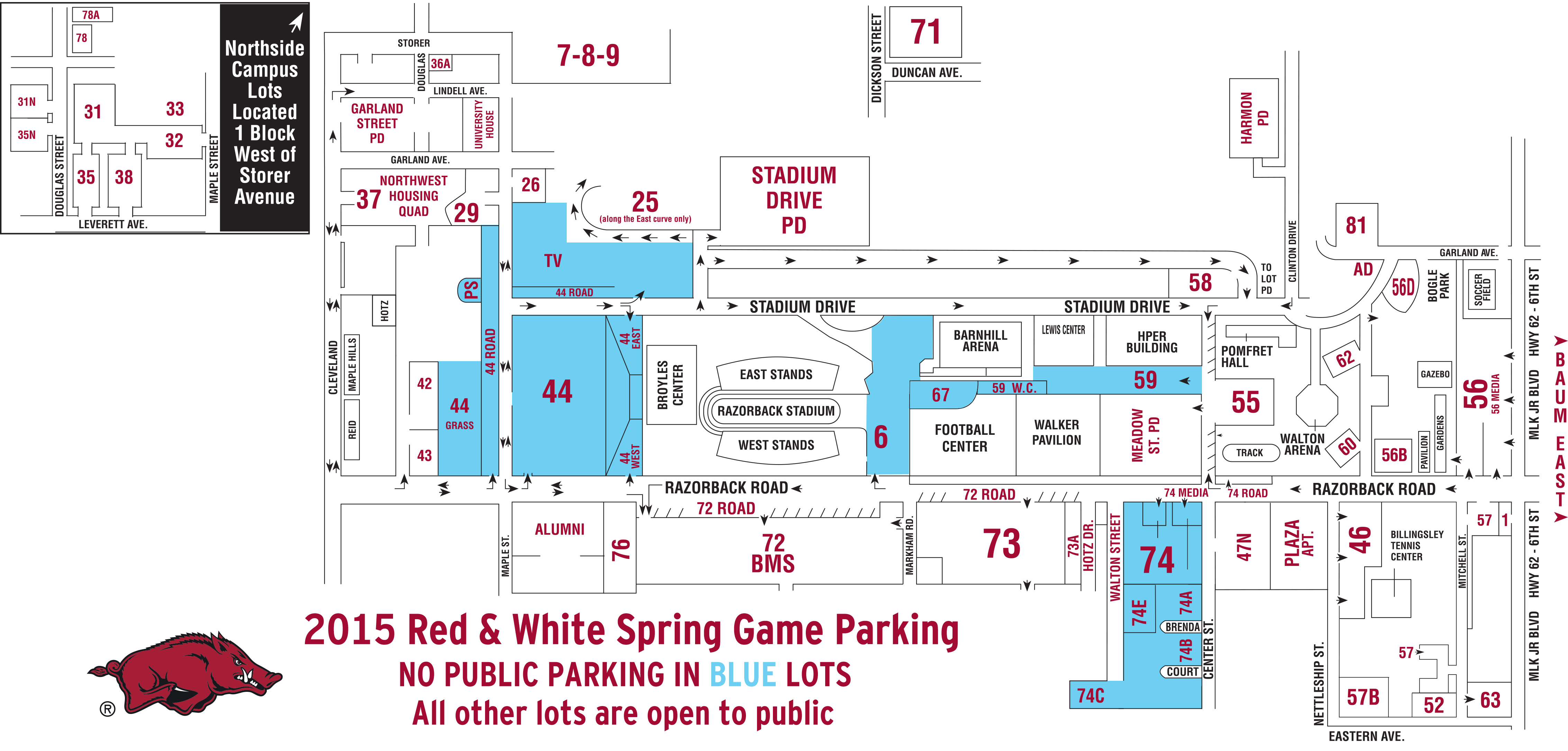Red Amp White Spring Game Information  Arkansas Razorbacks