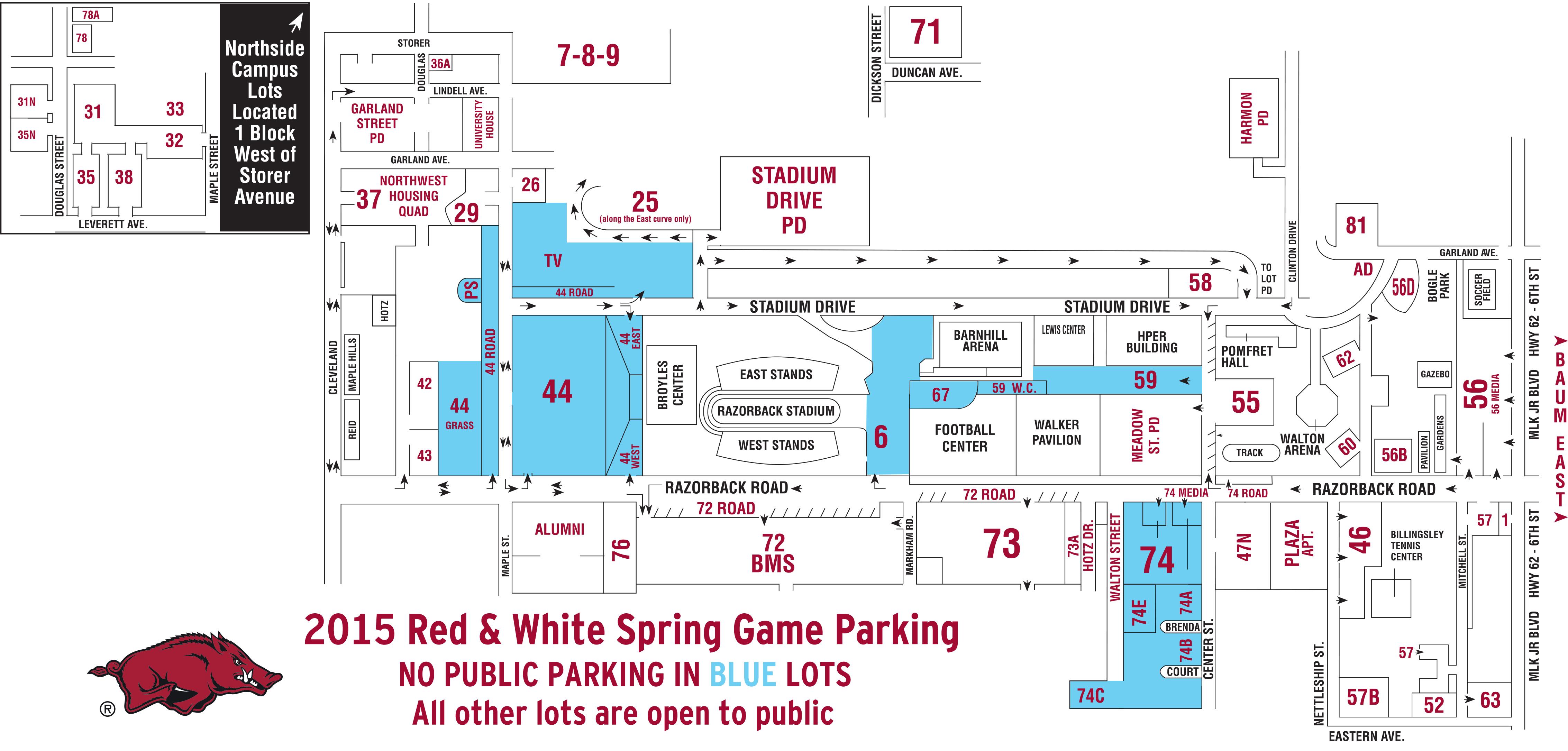 Uark Parking Map Football Alums Highlight A Club Reunion | Arkansas Razorbacks Uark Parking Map