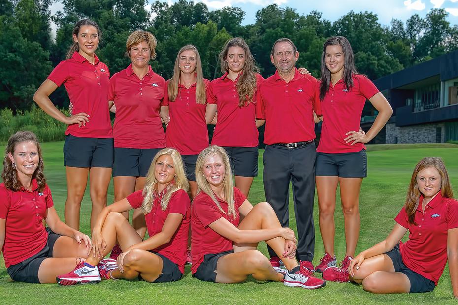 2014-15 Arkansas Women's Golf Team Photo