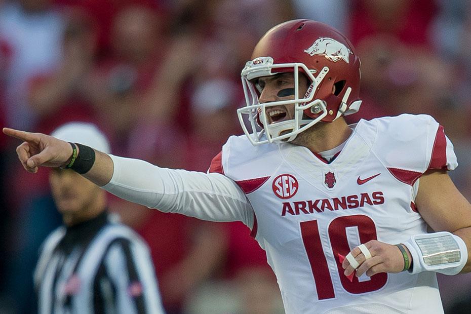 Listen: Brandon Allen's First Half TD Passes   Arkansas Razorbacks