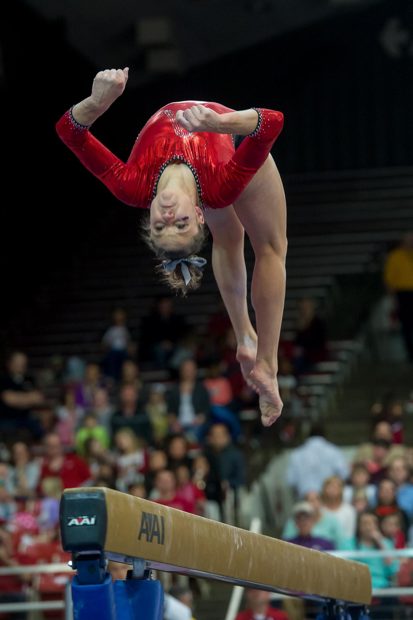 Arkansas vs Auburn Gymnastics Arkansas Razorbacks