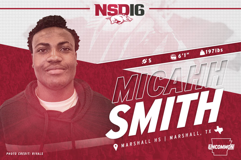 9:52 a.m. – Micahh Smith Is Officially A Razorback