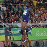 Aug 13, 2016; Rio de Janeiro, Brazil; Jarrion Lawson (USA) competes in the men's long jump event at Estadio Olimpico Joao Havelange during the Rio 2016 Summer Olympic Games. Mandatory Credit: Kirby Lee-USA TODAY Sports