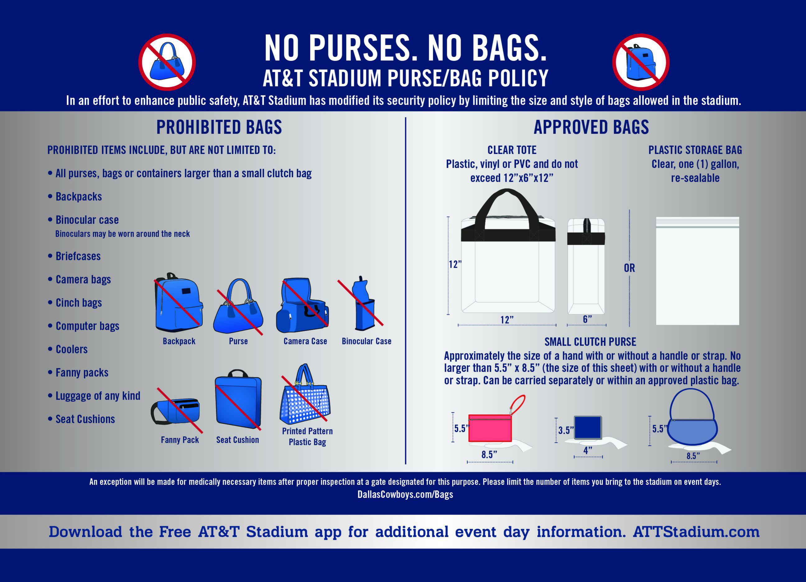 At Amp T Stadium Bag Policy Arkansas Razorbacks