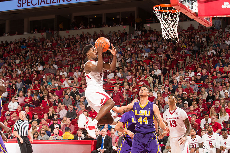 Strong Second-Half Leads Arkansas Past LSU