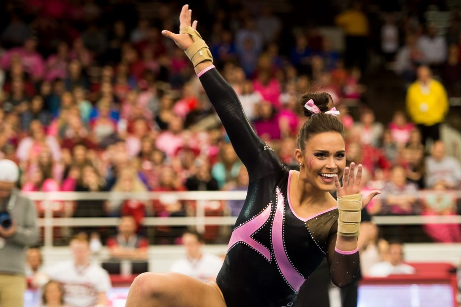live college gymnastics meet scores aloha