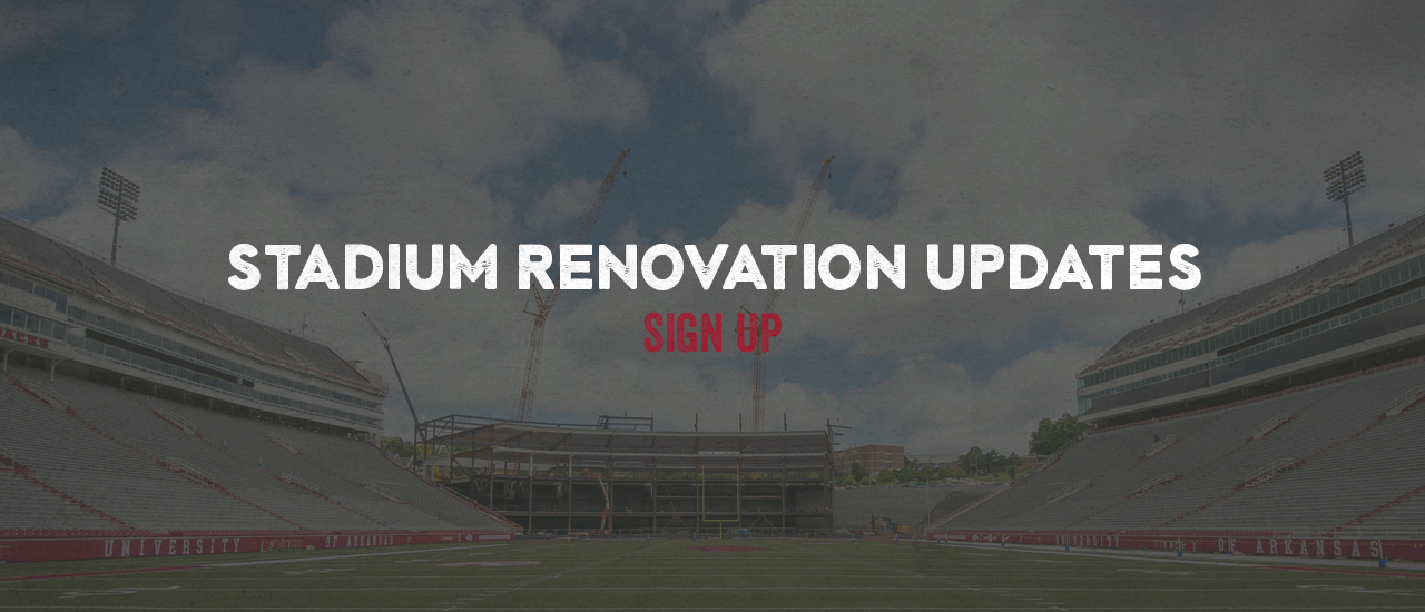 Sign Up For Stadium Renovation Updates