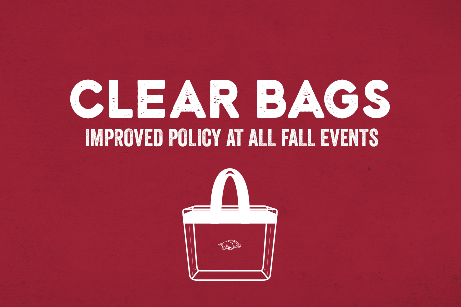Arkansas Implements Clear Bag Policy For All Home Events