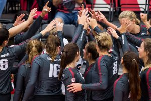 Five-Set Rally Past SMU in Non-Conference Finale