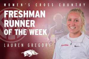 Gregory Grabs Third-Straight Conference Honor