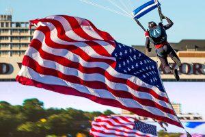 Parachute Team Landing 30 Minutes Before Kickoff