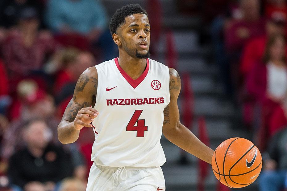 C.J. Jones Arkansas Razorbacks Basketball Jersey - Red
