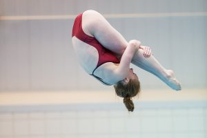 Schultz Claims Arkansas' First Ever SEC Diving Title