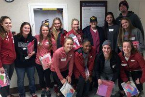 Razorbacks Visit Veterans On Valentine's Day