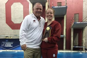 Schultz Claims Arkansas' Third Diving National Title
