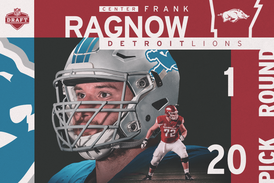 Ragnow Selected 20th Overall By Detroit Lions