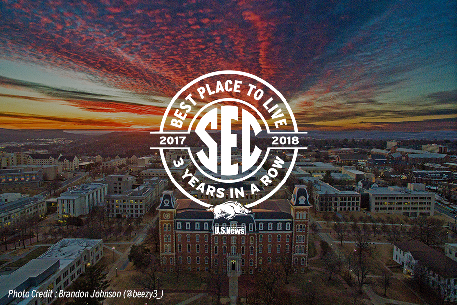 Three-peat: Fayetteville Named 'Best Place To Live' In SEC