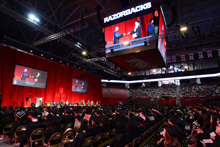 Eighty-Seven Razorbacks Earn Degrees This Weekend