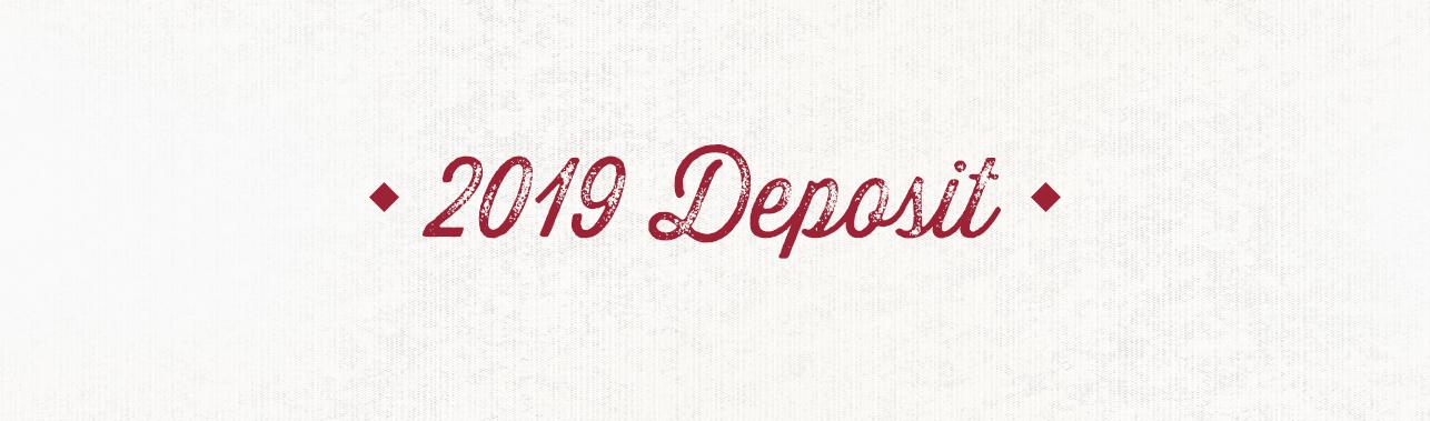 2019 Deposit