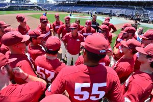 Hogs To Lock With 'Horns In College World Series Opener