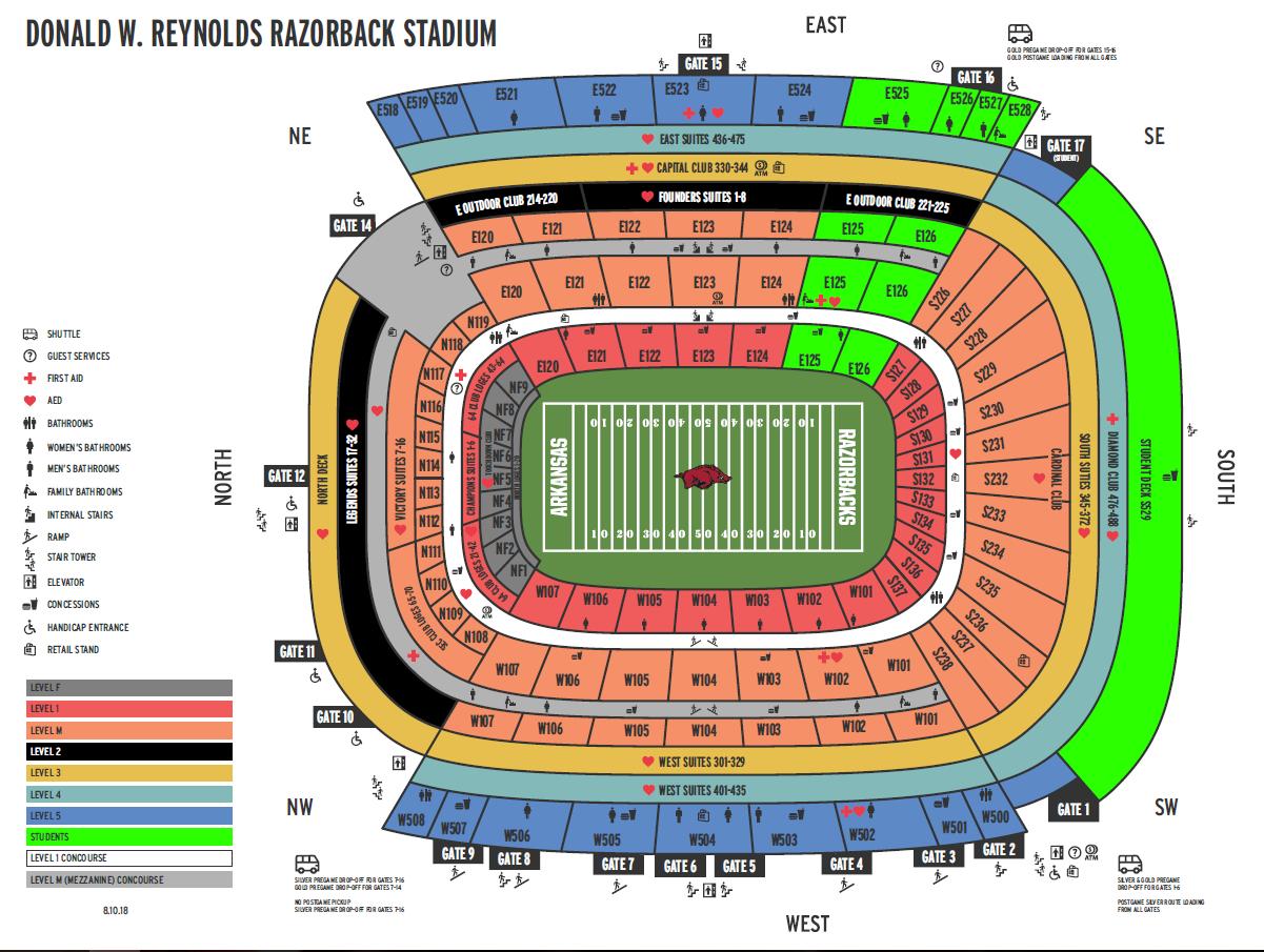 NEW Stadium Map