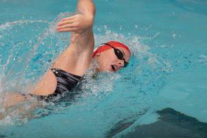 Hopkin Sets Pool Record in Loss to No. 7 Georgia