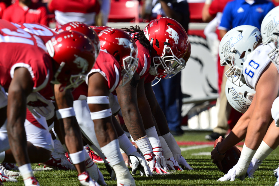 Hogs Top Golden Hurricane on Homecoming
