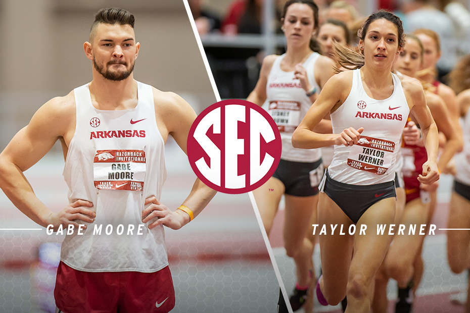 Moore, Werner Named SEC Indoor Track & Field Scholar-Athletes of the Year