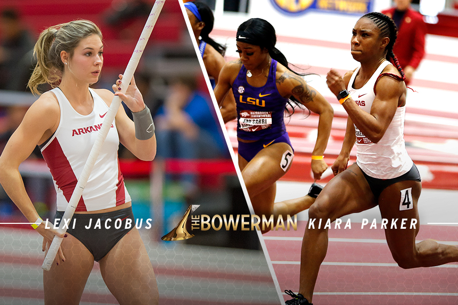 Jacobus, Parker Named to The Bowerman Mid-Indoor Watch List