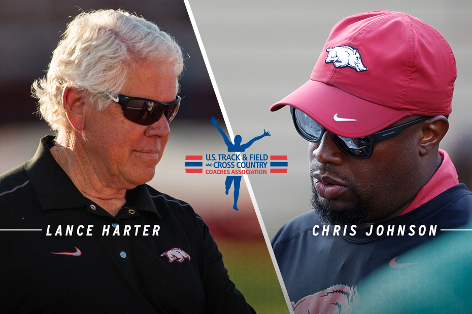 Harter, Johnson Named USTFCCCA National Coaches of the Year