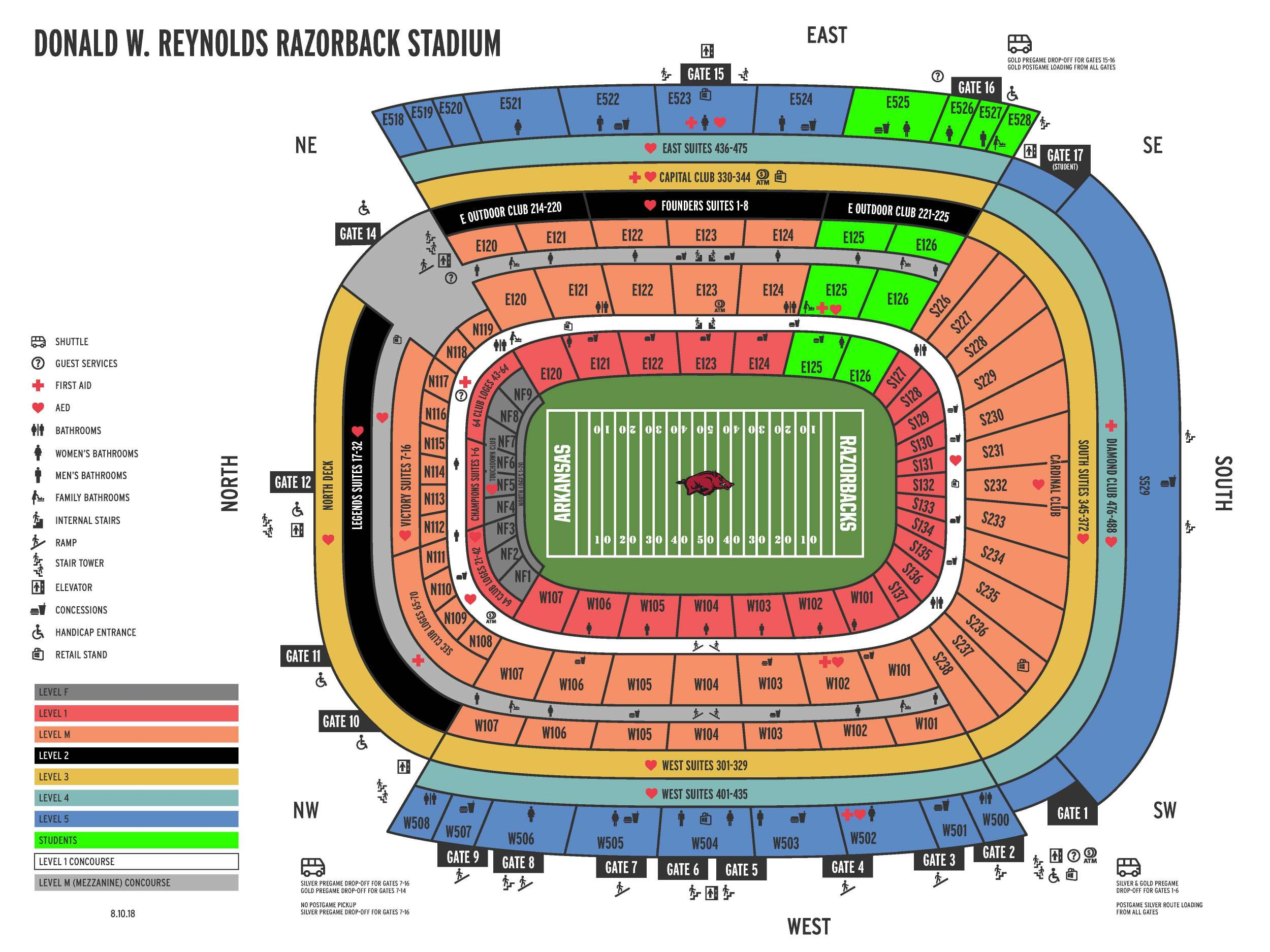 NEW Stadium Map