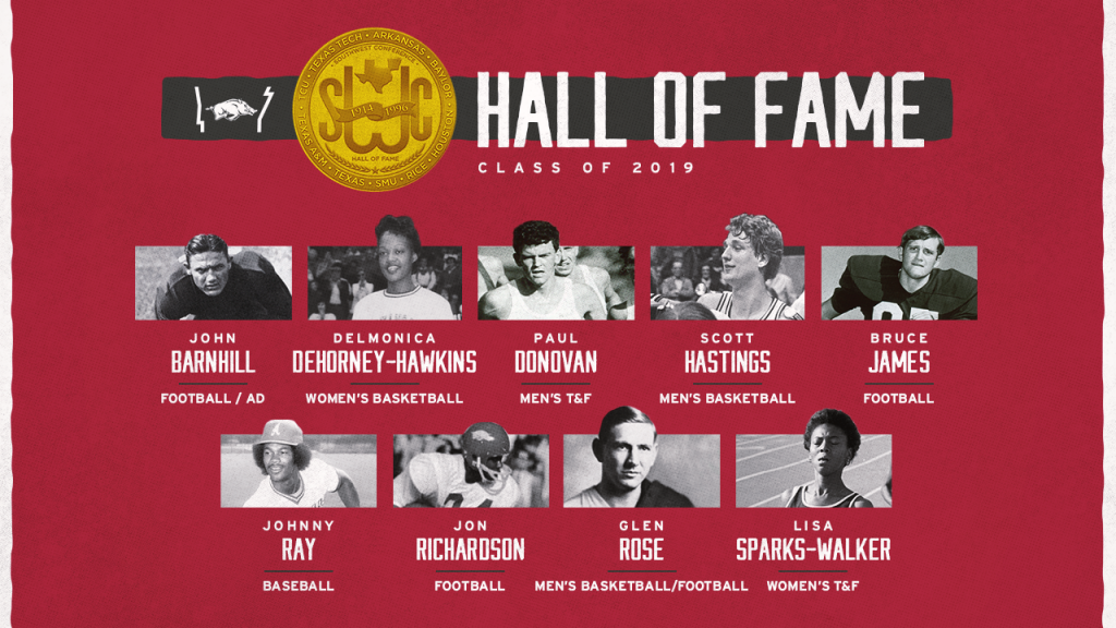SWC Hall of Fame Welcomes 9 Razorbacks