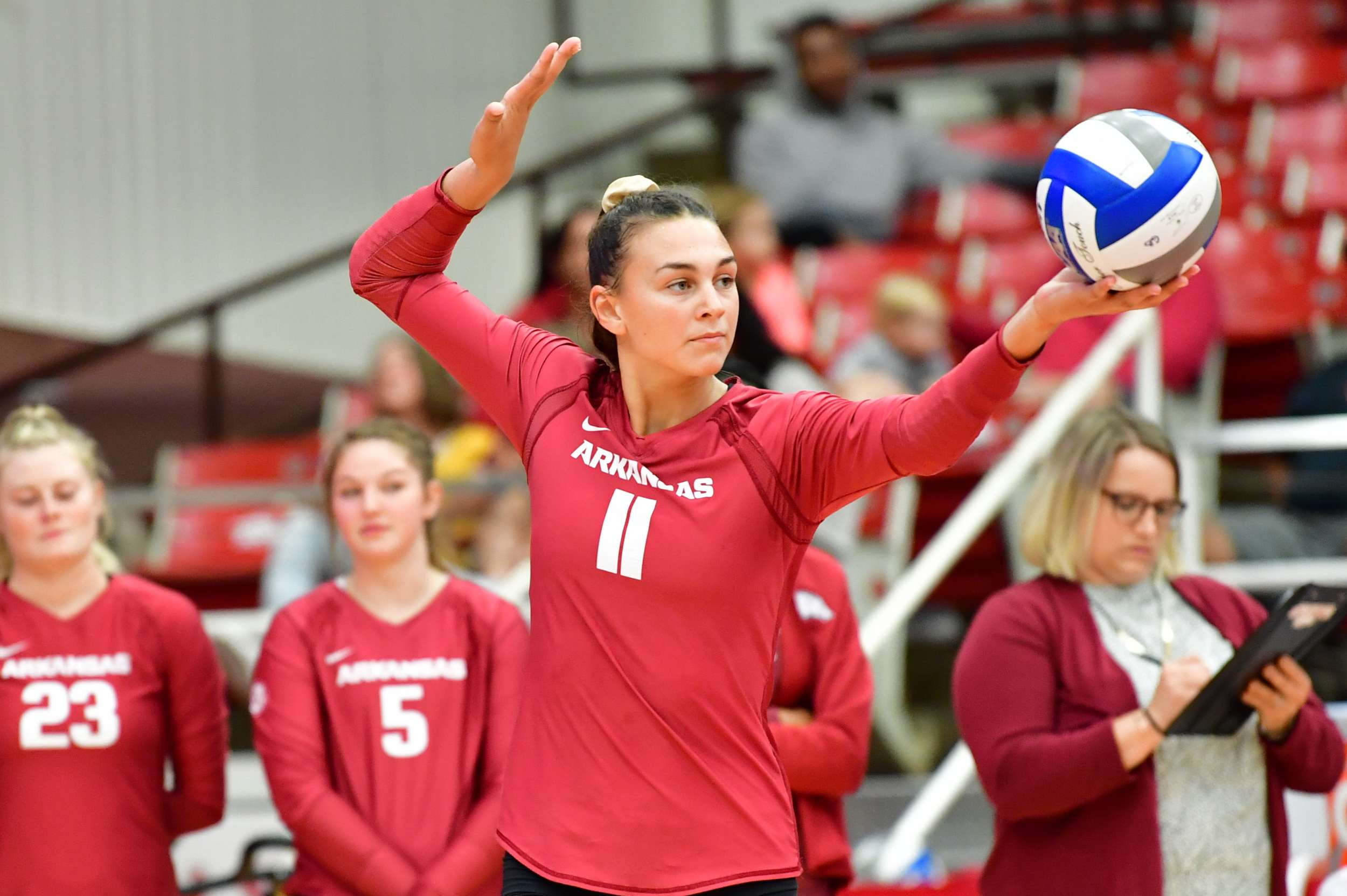 Arkansas Drops Late Night Match to No 25 San Diego