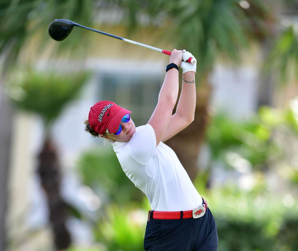 Razorbacks In Second After Round One at the White Sands Invitational
