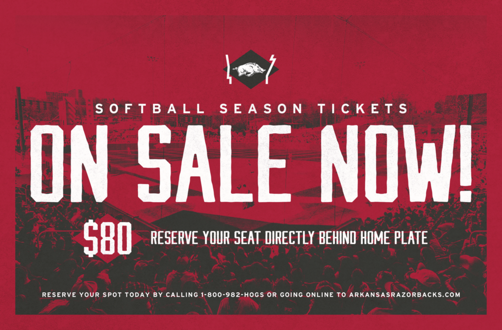 Razorback Softball Season Tickets on Sale