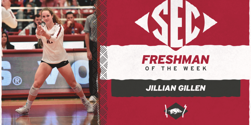 Gillen Earns Second SEC Freshman of the Week Award