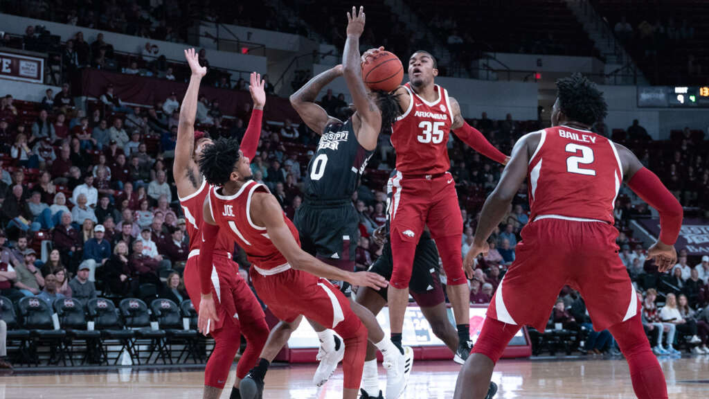 Hogs Fall at Miss State, 77-70