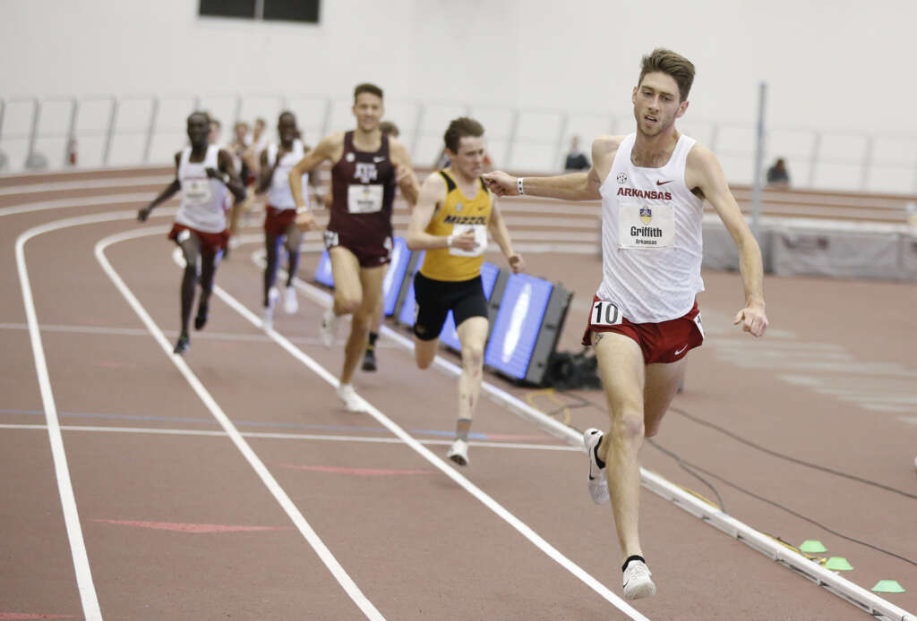 Griffith Garners SEC Indoor Runner of the Year, Bucknam Named Coach of the Year