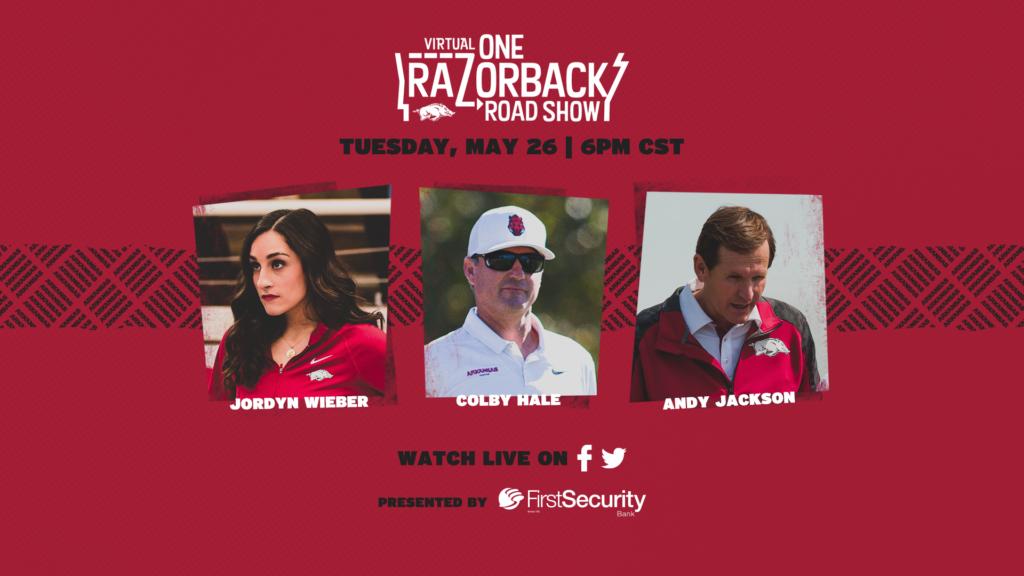 Wieber, Hale, Jackson Headline Tonight's Virtual ONE Razorback Roadshow
