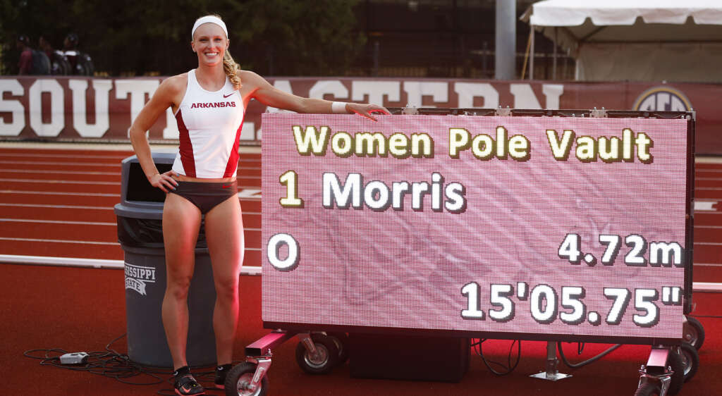 On This Day: Sandi Morris Achieves Another Collegiate Record