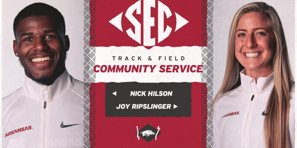 Hilson, Ripslinger Named to SEC Community Service Team