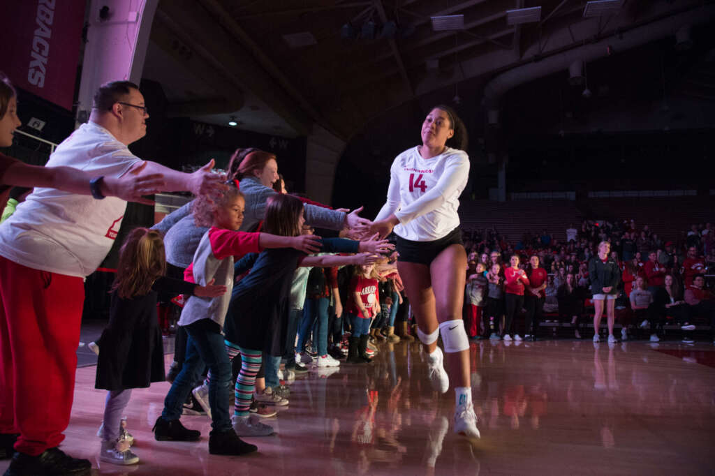 Razorback Volleyball Honors Their Athlete Dads III