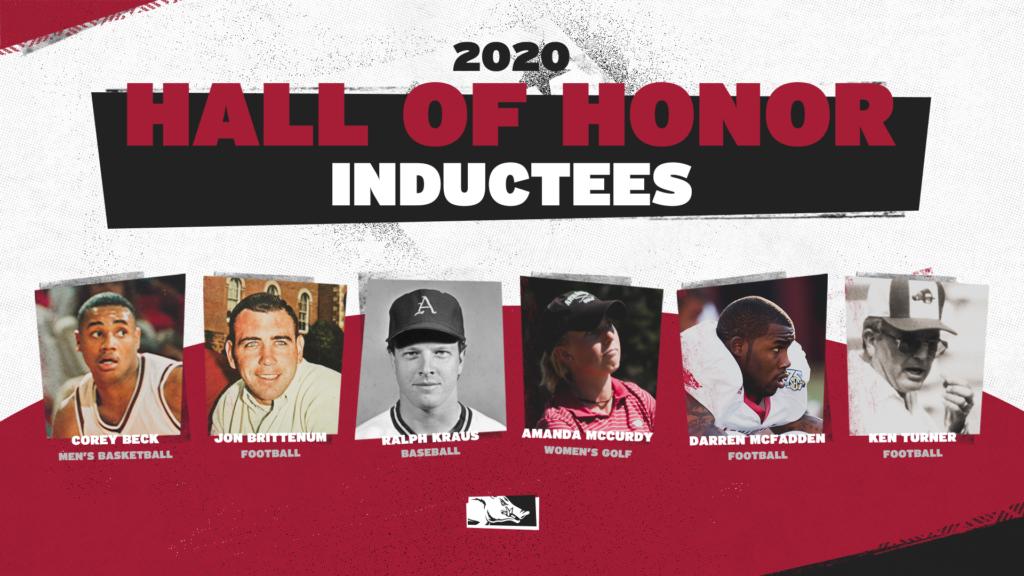 Six Razorbacks Named to 2020 UA Sports Hall of Honor Class