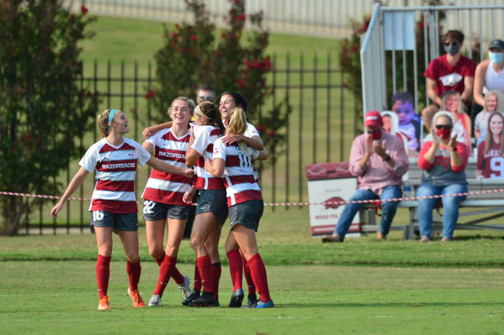 Razorback Soccer opens season with 2-0 victory over LSU