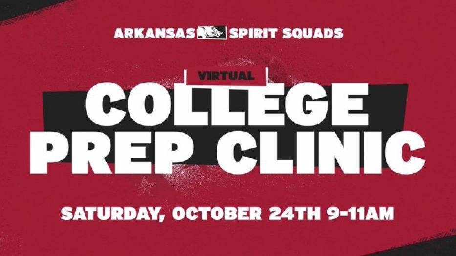 Razorback Spirit Squads Virtual Clinic set for Saturday