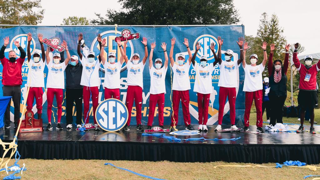 Back on top! No. 1 Men's XC wins 26th SEC crown