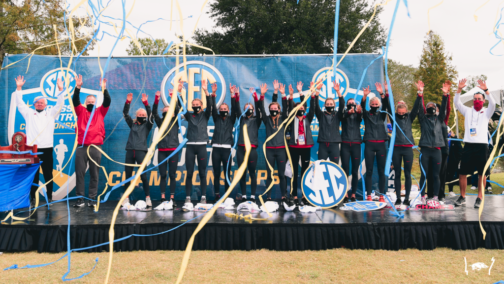 Eight in a row! Top-ranked Women's XC claims eighth straight SEC title