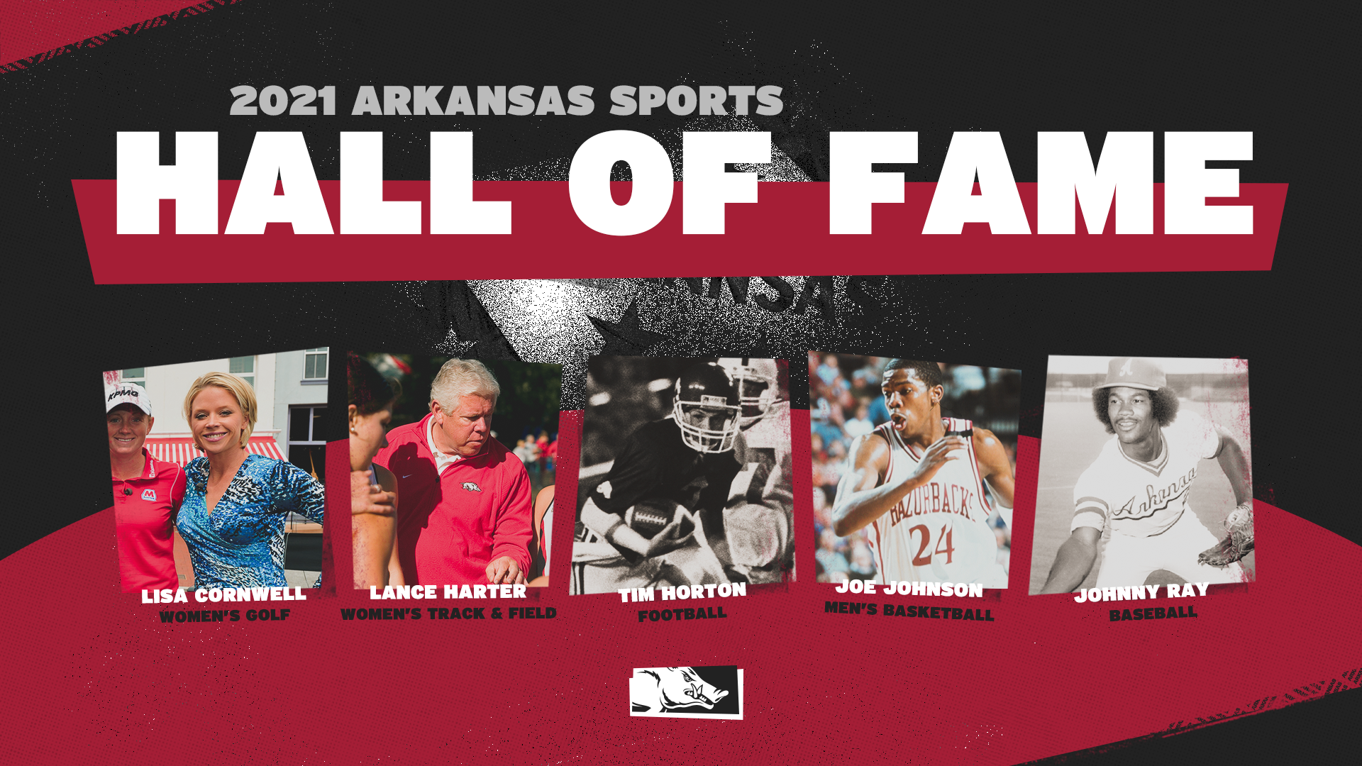 Five Razorbacks Selected for the Arkansas Sports Hall of Fame